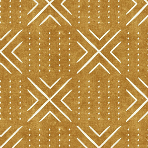 mud cloth tile - mustard - mud cloth inspired home decor wallpaper - LAD19