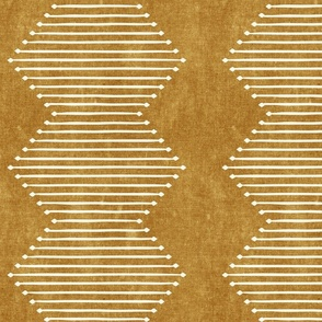 mud cloth - diamond - mustard - mud cloth inspired home decor wallpaper - LAD19