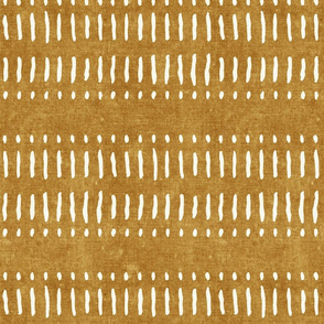 dash dot stripes on mustard - mud cloth inspired home decor wallpaper - LAD19