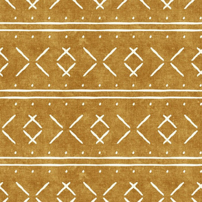 mud cloth stitch - mustard - mudcloth tribal - LAD19