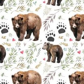 """4"""" Mama Bear with Hearts"""