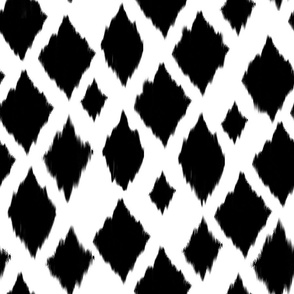 Black  &  white Diamond Ikat