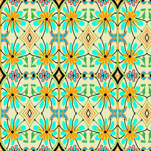FLORAL GEOMETRIC LARGER SCALE