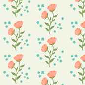 Pink & Blue Flowers