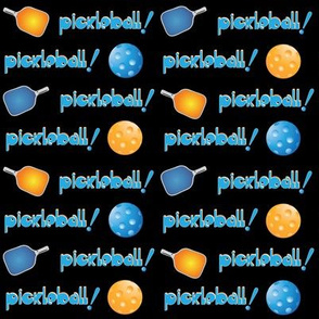 Pickleball Row Blue Orange with Black Back