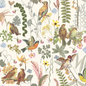 Song Bird Garden Whimsical Wonderland