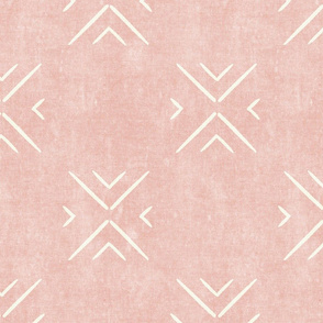 mud cloth tile simple - pink - mud cloth inspired home decor wallpaper - LAD19