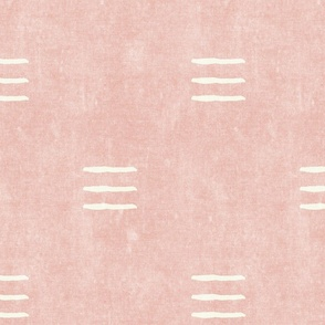 triple dash - mud cloth - pink - mudcloth farmhouse tribal - LAD19