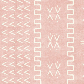 mud cloth - arrow & cross - pink - mud cloth inspired home decor wallpaper - LAD19
