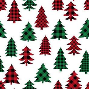 buffalo check christmas tree - plaid tree, plaid christmas, christmas tree, -  red and green