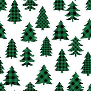 buffalo check christmas tree - plaid tree, plaid christmas, christmas tree, - green