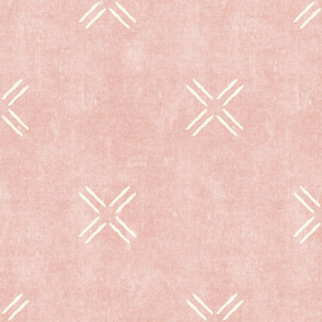 cross - pink - mud cloth inspired home decor tribal wallpaper  - LAD19