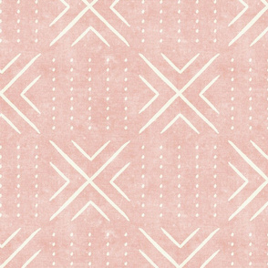 mud cloth tile - pink - mud cloth inspired home decor wallpaper - LAD19
