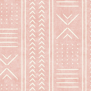 pink mud cloth - arrow cross dot - mudcloth home decor tribal - LAD19