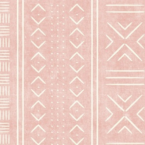 pink mud cloth - dots - mudcloth tribal - LAD19
