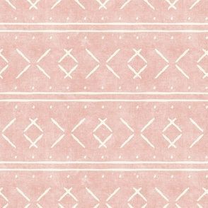 mud cloth stitch - pink - mudcloth tribal - LAD19