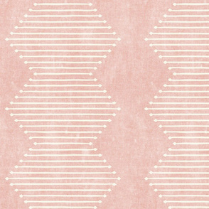 mud cloth - diamond - pink - mud cloth inspired home decor wallpaper - LAD19