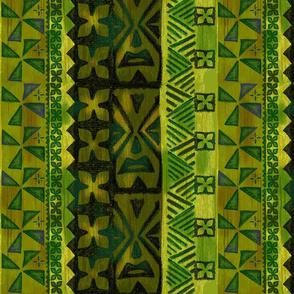 Tapa Flower Green
