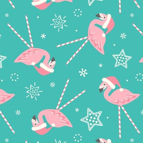 Holiday Candy Pink Flamingos © studioxtine