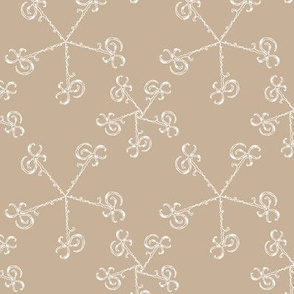 whirl doodle ornament - beige