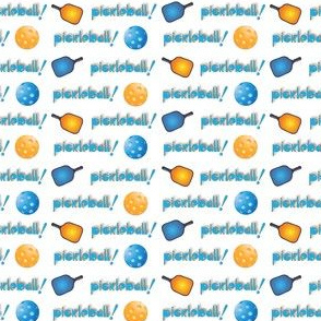 Pickleball Row:Blue Orange on white