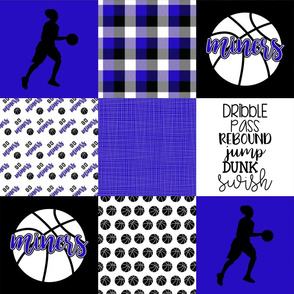 Girls Basketball//Miners - Wholecloth Cheater Quilt
