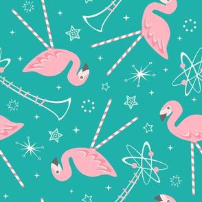 Atomic Candy Pink Flamingos