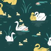 Emerald Swan Lake | LARGE