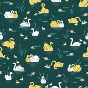 Emerald Swan Lake