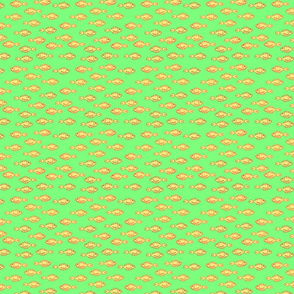 school of fish on light green background