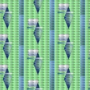 Modern geometry in green and blue