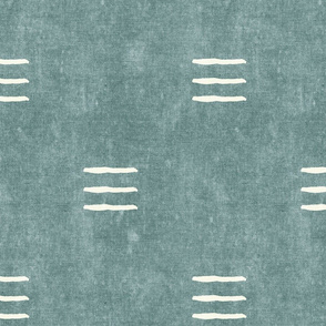 triple dash - mud cloth - dusty blue - mudcloth farmhouse tribal - LAD19