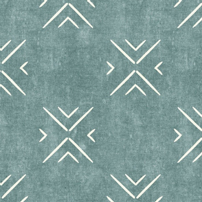 mud cloth tile simple - dusty blue - mud cloth inspired home decor wallpaper - LAD19