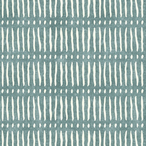 vertical dash mud cloth stripes - dusty blue - mud cloth inspired home decor wallpaper - LAD19