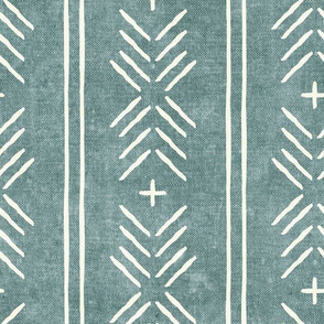 mud cloth arrow stripes - dusty blue - mudcloth tribal - LAD19