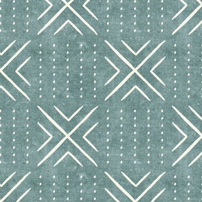 mud cloth tile - dusty blue - mud cloth inspired home decor wallpaper - LAD19