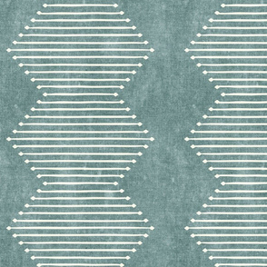mud cloth - diamond - dusty blue - mud cloth inspired home decor wallpaper - LAD19