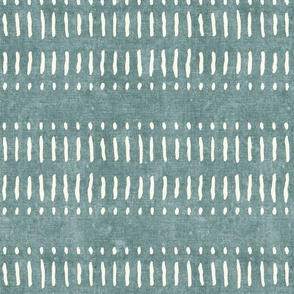 dash dot stripes on dusty blue - mud cloth inspired home decor wallpaper - LAD19