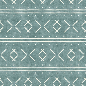 mud cloth stitch - dusty blue - mudcloth tribal - LAD19