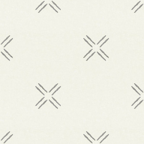 cross - grey on bone - mud cloth inspired home decor tribal wallpaper  - LAD19