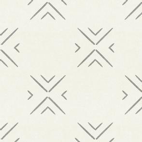 mud cloth tile simple - grey on bone - mud cloth inspired home decor wallpaper - LAD19