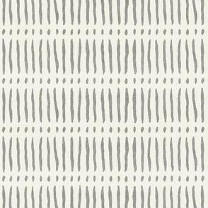vertical dash mud cloth stripes - grey on bone - mud cloth inspired home decor wallpaper - LAD19