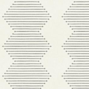 mud cloth - diamond - grey on bone - mud cloth inspired home decor wallpaper - LAD19