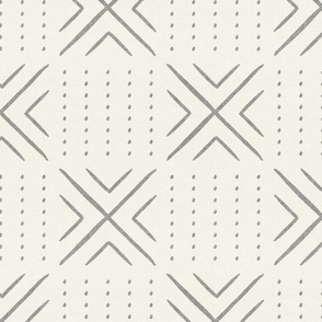 mud cloth tile - grey on bone - mud cloth inspired home decor wallpaper - LAD19