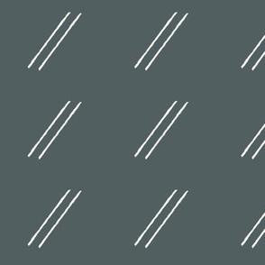 Line Drop Skinny / Dark Sage Green Teal