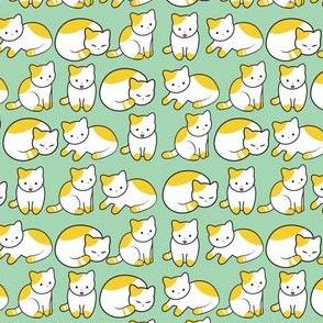 Cat Pattern Mint Green