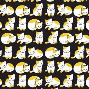 Cat Pattern Black