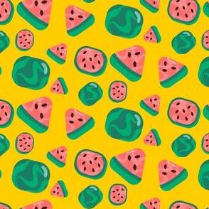 Cute Watermelon Pattern Yellow