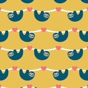 Sloth Love Yellow