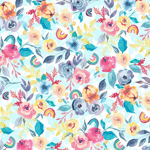 Rosey Rainbow Chintz